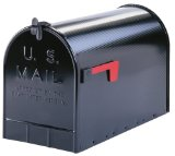 All Products : Solar ST200B00 Group Jumbo Steel Rural Mailbox, Black