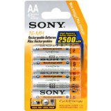 Search : Sony 2500 mAh AA Rechargeable Nimh Batteries, 4-pack