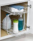 Search : ClosetMaid 3609 2 Tier 14-Inch Kitchen Cabinet Organizer, White