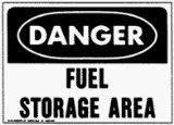 "Search : Plastic Sign ""Danger-Fuel Storage Area"" - SAFETY SIGN ""FUEL STORAGE AREA"""
