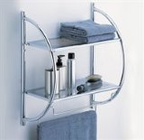 Tools & Hardware : Neu Home 2-Tier Shelf with Towel Bars